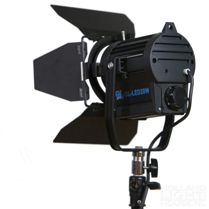GL-LED20WAD FRESNEL SPOT ACHTERKANT